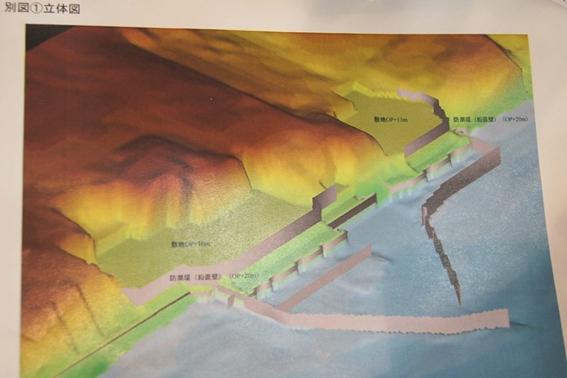 防潮堤の計画図面