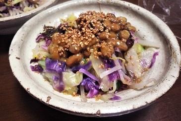 紫キャベツ納豆