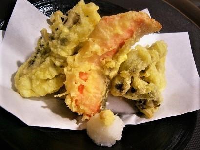 鮭ときのこ天ぷら1