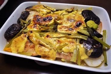 秋鮭味噌マヨ焼き
