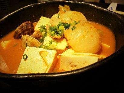 チゲ風味の湯豆腐