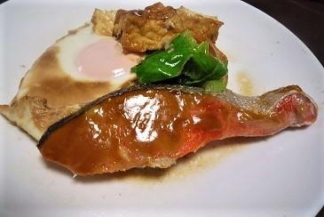 紅鮭ソース焼き