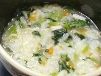 180101青菜と小柱の雑炊