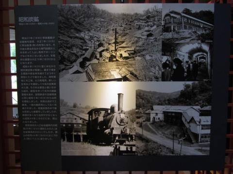 昭和炭鉱の展示パネル