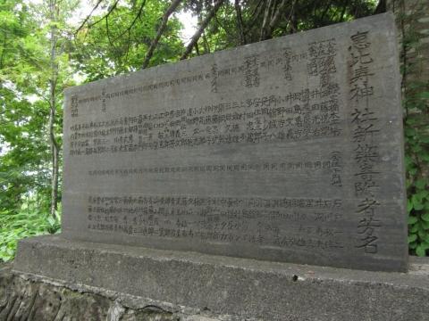 「恵比寿神社新築寄付者名」碑
