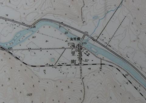 地形図 滝里旧市街(昭和31年測量)