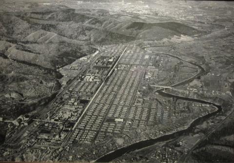 西芦別町全景(昭和40年)