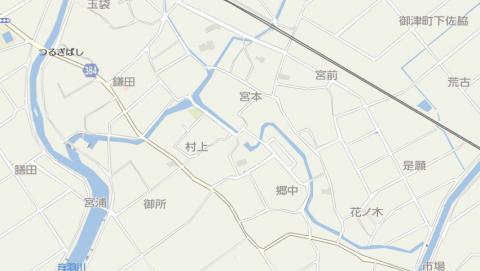 御津地図 花ノ木