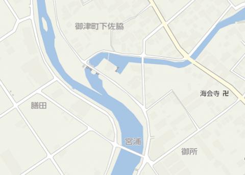 御津地図 御所