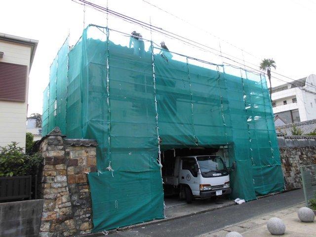 よこまちや 付属建物解体 屋根撤去中