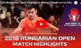 王楚欽VS刘丁碩(準決勝)ハンガリーオープン2018