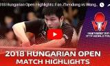 樊振東VS王楚欽(決勝戦)ハンガリーオープン2018