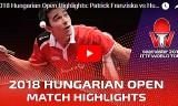 カルデラノVSフランチスカ(準々)ハンガリーオープン2018