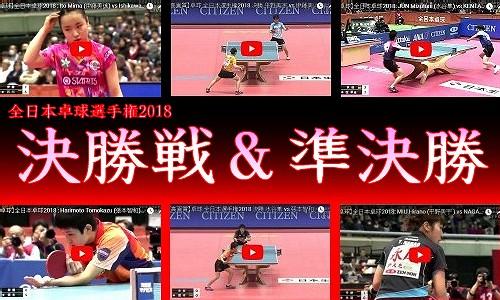 【特集】 全日本卓球選手権2018 (1/15~1/21)
