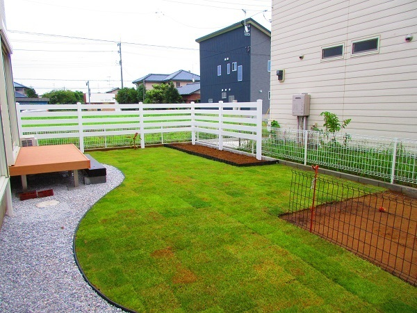大芝 I様邸お庭の完成4