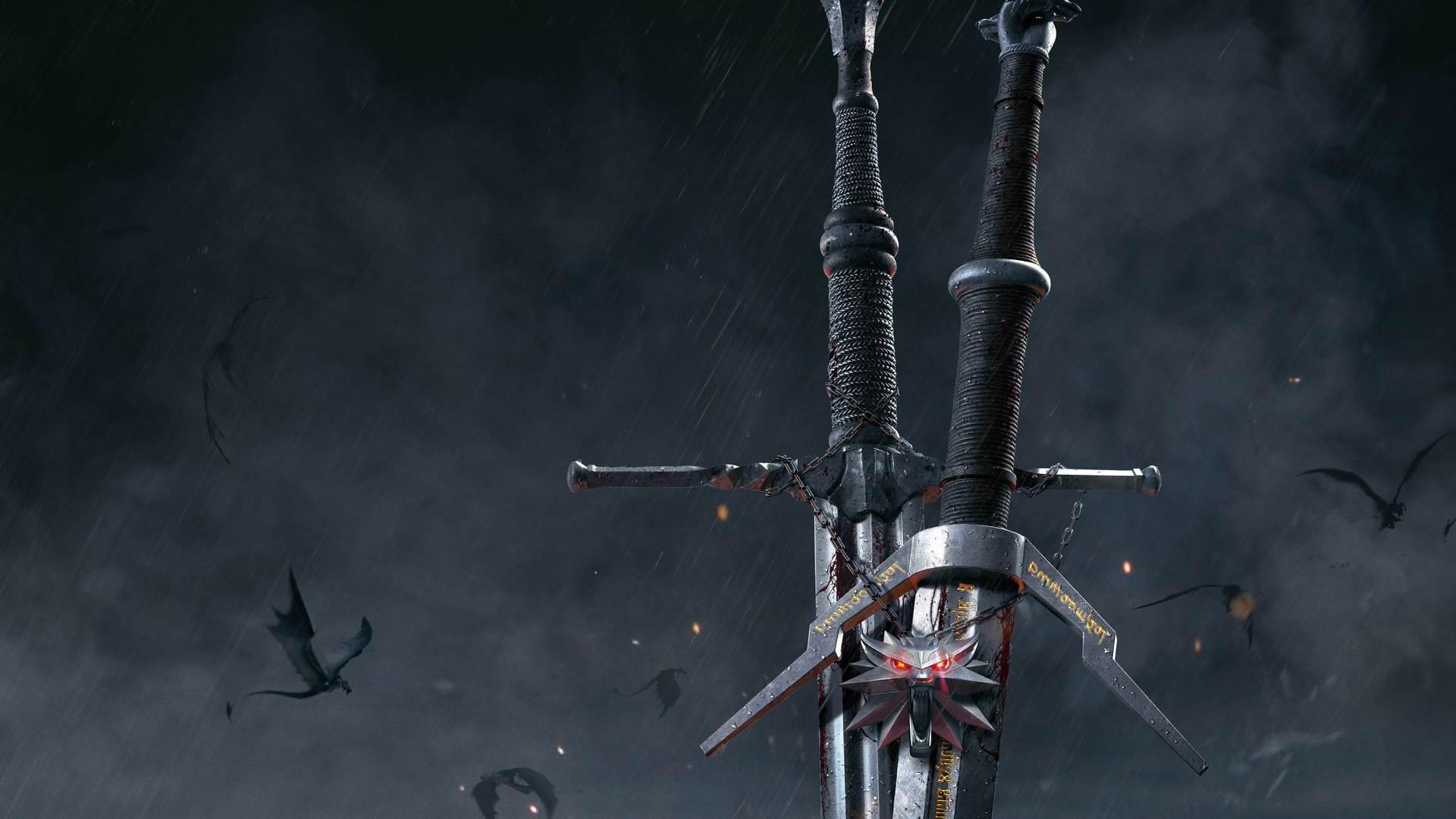 The Witcher 3 Wild Hunt Sword Wallpaper Hd