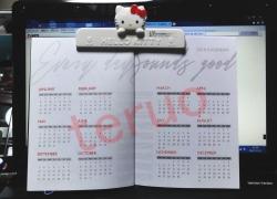 カレンダー付き五線譜ノート-2