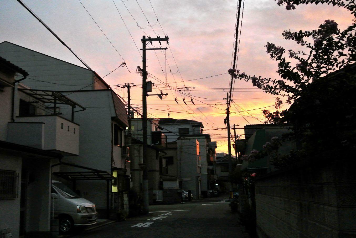 ⑩夕焼けの景色