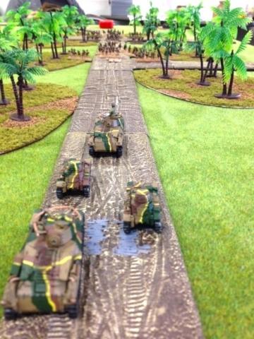 戦車隊前進!