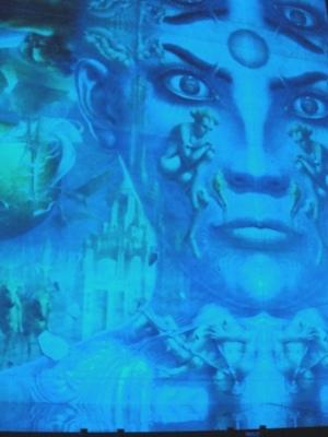 ディマシオ美術館 世界最大の油彩画 光と音のショー1