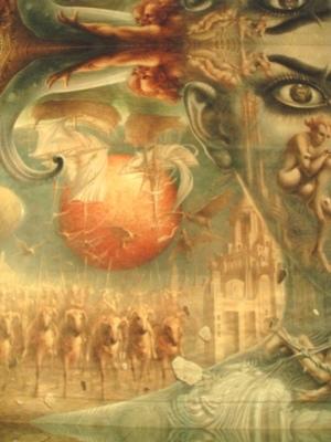 ディマシオ美術館 世界最大の油彩画 光と音のショー3