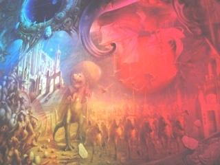 ディマシオ美術館 世界最大の油彩画 光と音のショー4