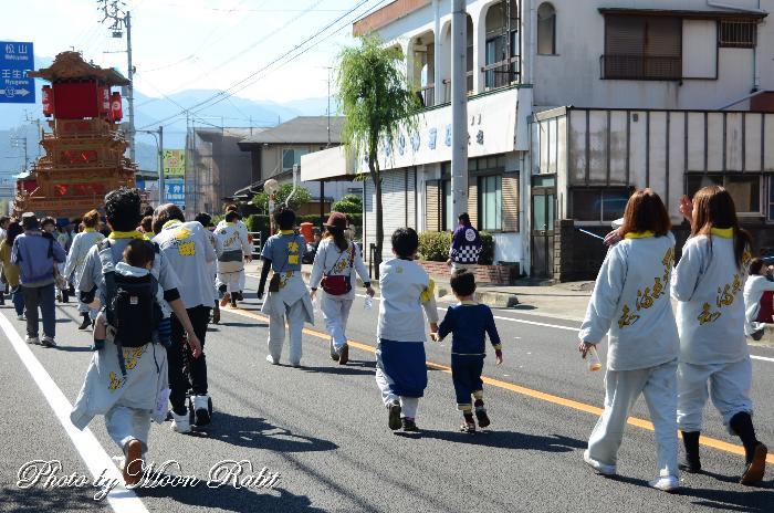 栄町上組だんじり(屋台) 祭り装束
