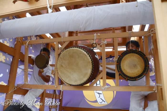 北條新田屋台(だんじり) 祭り太鼓