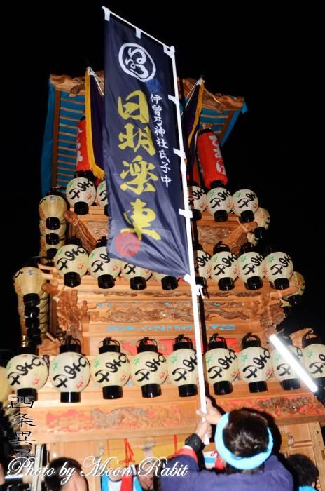 日明だんじり(屋台) 御幣・祭り旗