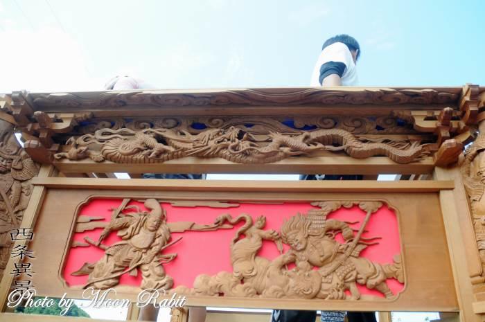 福武新田屋台(だんじり) 斗栱間・天井板