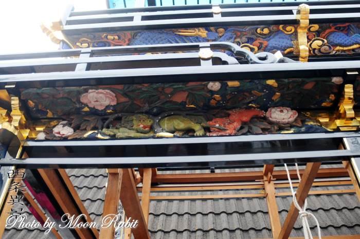 原之前だんじり(屋台) 斗栱間・天井板 西条祭り