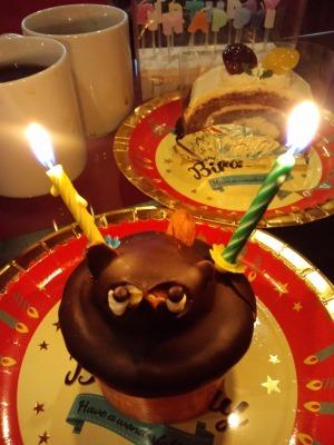 たぬきのケーキ