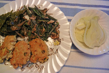 blog CP4 Dinner, Tofu Burger, Warabi w-Tuna, Collard Green, Fennel Salad, Mendocino, CA_DSCN4435-4.26.17.jpg