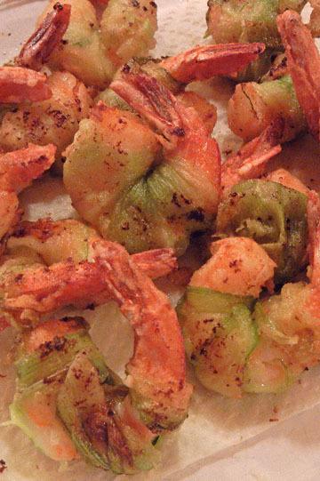 blog CP 13 Cooking, Dinner, Giant Zuccini, Shrimp, Prineville, OR 2_DSCN6320-10.18.17.jpg