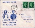 英国・QEII結婚記念標語印