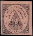 ホンジュラス最初の切手(赤紙)