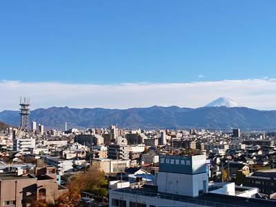 シングルルームからの富士山